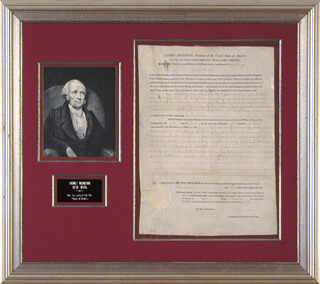 PRESIDENT JAMES MADISON - LAND GRANT SIGNED 01/01/1813 CO-SIGNED BY: EDWARD TIFFIN