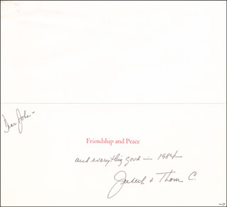 JUDITH (LEVERONE) CHRISTOPHER - CHRISTMAS / HOLIDAY CARD SIGNED 1984