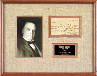 PRESIDENT WILLIAM McKINLEY - AUTOGRAPH LETTER SIGNED 02/11/1891