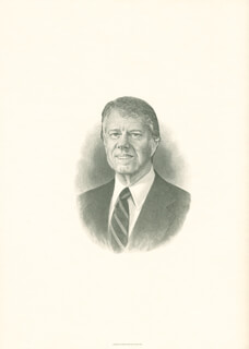 Autographs: PRESIDENT JAMES E. JIMMY CARTER - ENGRAVING UNSIGNED