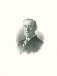 PRESIDENT WOODROW WILSON - ENGRAVING UNSIGNED