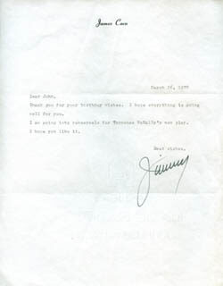 JAMES JIMMY COCO - TYPED LETTER SIGNED 03/26/1978