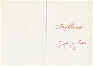 JAMES JIMMY COCO - CHRISTMAS / HOLIDAY CARD SIGNED