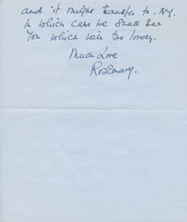 ROSEMARY HARRIS - AUTOGRAPH LETTER SIGNED 05/10/1975
