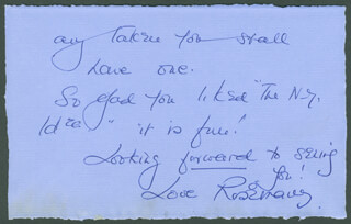 ROSEMARY HARRIS - AUTOGRAPH LETTER SIGNED 04/03/1977