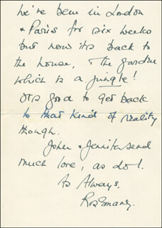 ROSEMARY HARRIS - AUTOGRAPH LETTER SIGNED 08/15/1973