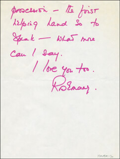 ROSEMARY HARRIS - AUTOGRAPH LETTER SIGNED 06/11/1973