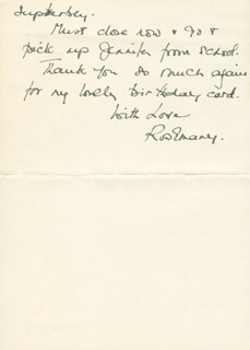 ROSEMARY HARRIS - AUTOGRAPH LETTER SIGNED 10/24/1973
