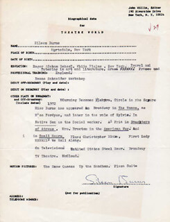 EILEEN BURNS - TYPED RESUME SIGNED
