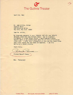 RICHARD RUSSELL RAMOS - TYPED LETTER SIGNED 04/24/1980