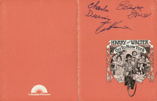 HARRY AND WALTER GO TO NEW YORK MOVIE CAST - PROGRAM SIGNED CO-SIGNED BY: CHARLES DURNING, ELLIOTT GOULD, CAROL KANE, DEE HOTY