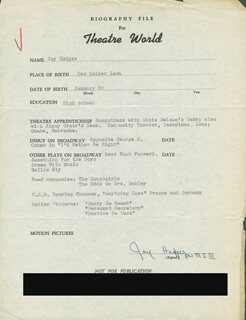 JOY HODGES - TYPED RESUME SIGNED
