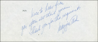 MAGGIE TASK - AUTOGRAPH SENTIMENT SIGNED