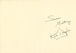 KIRK DOUGLAS - CHRISTMAS / HOLIDAY CARD SIGNED