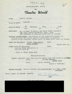 EDWARD GOLDEN - TYPED RESUME SIGNED