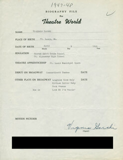 VIRGINIA GORSKI-GIBSON - TYPED RESUME SIGNED