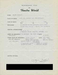 HAZEN GIFFORD - TYPED RESUME SIGNED