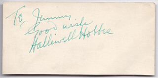 HALLIWELL HOBBES - AUTOGRAPH NOTE SIGNED