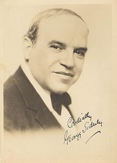 GEORGE SIDNEY - AUTOGRAPHED SIGNED PHOTOGRAPH