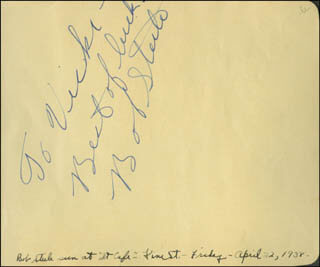 BOB STEELE - AUTOGRAPH NOTE SIGNED CIRCA 1938 CO-SIGNED BY: KEN NILES