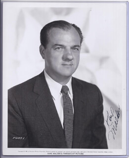 KARL MALDEN - PRINTED PHOTOGRAPH SIGNED IN INK