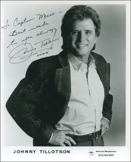 JOHNNY TILLOTSON - INSCRIBED PRINTED PHOTOGRAPH SIGNED IN INK 2005