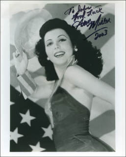 ANN MILLER - AUTOGRAPHED INSCRIBED PHOTOGRAPH 2003
