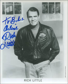 RICH LITTLE - INSCRIBED PRINTED PHOTOGRAPH SIGNED IN INK