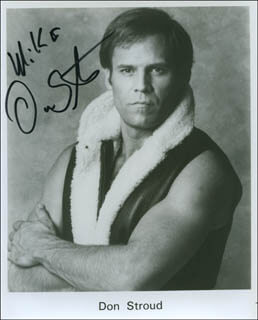 DON STROUD - AUTOGRAPHED INSCRIBED PHOTOGRAPH