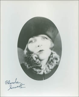 BLANCHE SWEET - AUTOGRAPHED SIGNED PHOTOGRAPH
