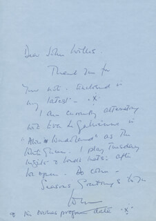 JOAN WHITE - AUTOGRAPH LETTER SIGNED