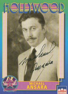 MICHAEL ANSARA - TRADING/SPORTS CARD SIGNED