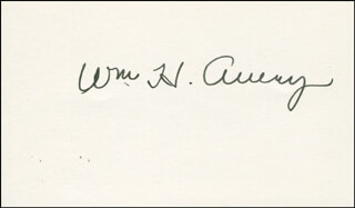 Autographs: WILLIAM H. AVERY - SIGNATURE(S)