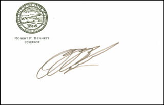 Autographs: ROBERT F. BENNETT (KANSAS) - CALLING CARD SIGNED