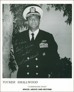 TUCKER SMALLWOOD - AUTOGRAPHED INSCRIBED PHOTOGRAPH