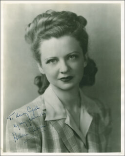 HELEN CLAIRE - AUTOGRAPHED INSCRIBED PHOTOGRAPH
