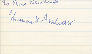 THOMAS K. FINLETTER - INSCRIBED SIGNATURE