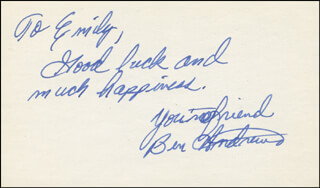 BEN ANDREWS - AUTOGRAPH NOTE SIGNED