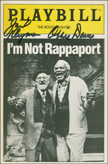 I'M NOT RAPPAPORT PLAY CAST - SHOW BILL SIGNED CO-SIGNED BY: JACK KLUGMAN, OSSIE DAVIS