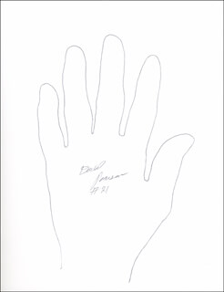 DAVID PEARSON - HAND/FOOT PRINT OR SKETCH SIGNED