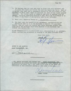 DENNIS WEAVER - CONTRACT SIGNED 01/28/1974