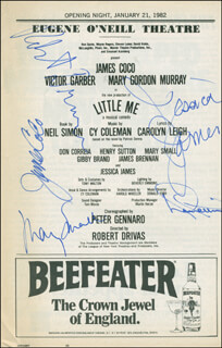 LITTLE ME PLAY CAST - SHOW BILL SIGNED CO-SIGNED BY: JAMES JIMMY COCO, MARY GORDON MURRAY, ROBERT DRIVAS, JESSICA JAMES, DON CORREIA
