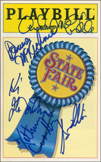STATE FAIR PLAY CAST - SHOW BILL SIGNED CO-SIGNED BY: KATHRYN GRANT CROSBY, JOHN DAVIDSON, ANDREA MCCARDLE, DONNA McKECHNIE, SCOTT WISE