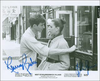 NEXT STOP GREENWICH VILLAGE MOVIE CAST - AUTOGRAPHED SIGNED PHOTOGRAPH CO-SIGNED BY: ELLEN GREENE, LENNY BAKER