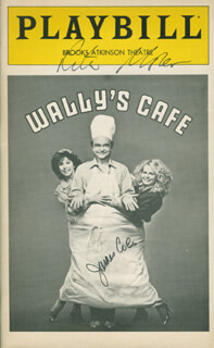 WALLY'S CAFE PLAY CAST - SHOW BILL SIGNED CO-SIGNED BY: JAMES JIMMY COCO, RITA MORENO