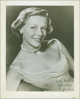 PHYLLIS HILL - AUTOGRAPHED INSCRIBED PHOTOGRAPH
