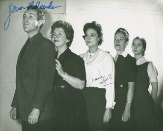 TOYS IN THE ATTIC PLAY CAST - AUTOGRAPHED SIGNED PHOTOGRAPH CO-SIGNED BY: IRENE WORTH, JASON ROBARDS JR.