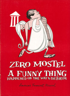 A Funny Thing Happened On The Way To The Forum Play Cast Memorabilia 301549