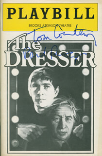 THE DRESSER PLAY CAST - SHOW BILL SIGNED CO-SIGNED BY: TOM COURTENAY, PAUL ROGERS