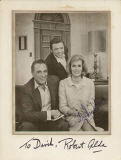 WHAT MAKES SAMMY RUN? PLAY CAST - AUTOGRAPHED INSCRIBED PHOTOGRAPH CO-SIGNED BY: ROBERT ALDA, SALLY ANN HOWES